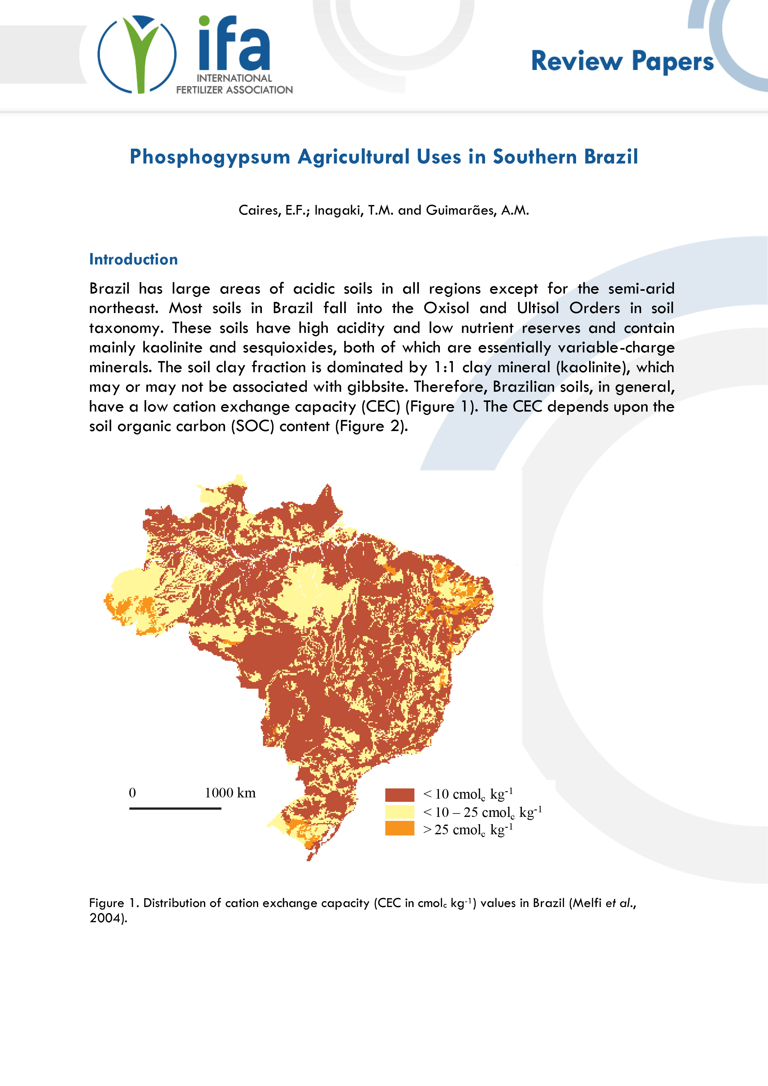 2016 Phosphogypsum agricultural uses in southern Brazil
