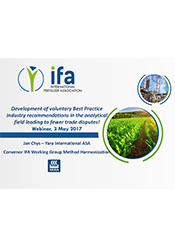 IFA Webinar Method Harmonization Working Group Update